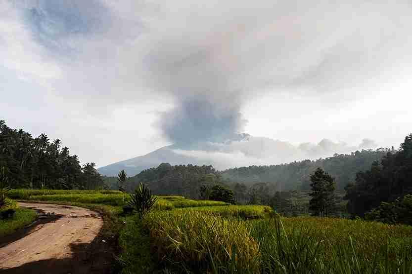 Bali Volcano Eruption
