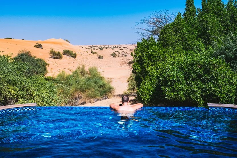 Private Plunge Pool Al Maha Desert Resort Dubai Review