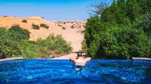 Private Plunge Pool Al Maha Desert Resort Dubai Review