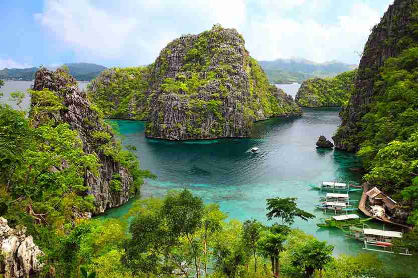 landscape of Coron, Busuanga island, Palawan province, Philippines. Photo by Sean3810 / Getty Images