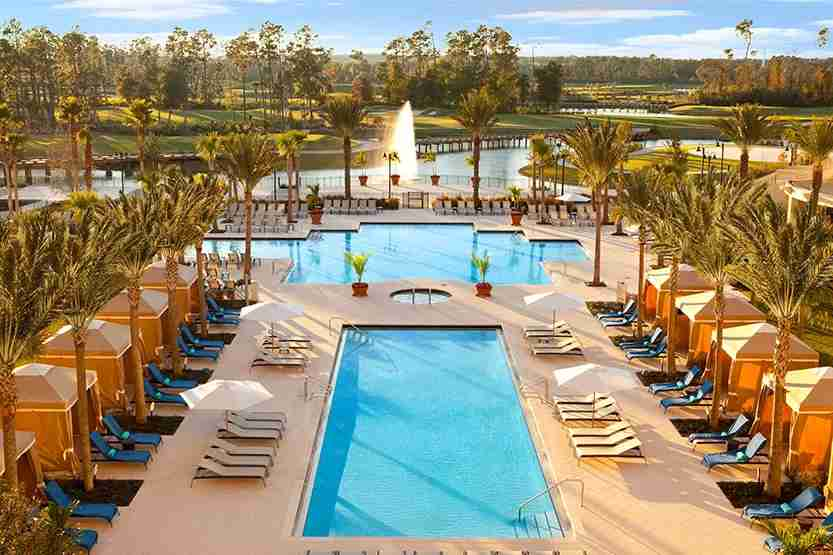Pool at the Waldorf Astoria Orlando. Photo courtesy Hilton