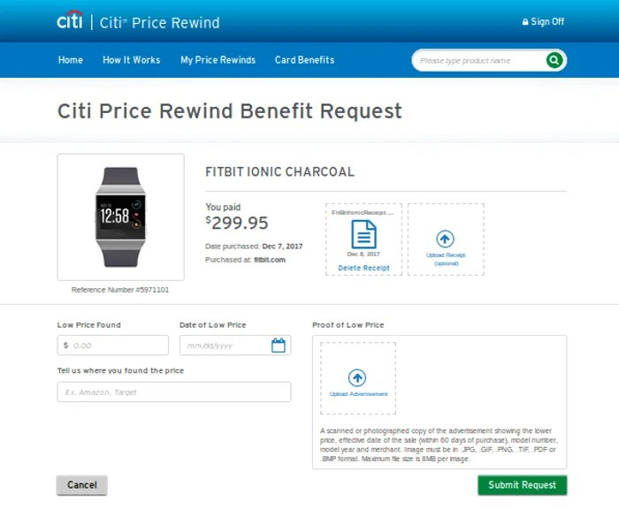 How to Submit a Lower Price Online for Citi's Price Rewind