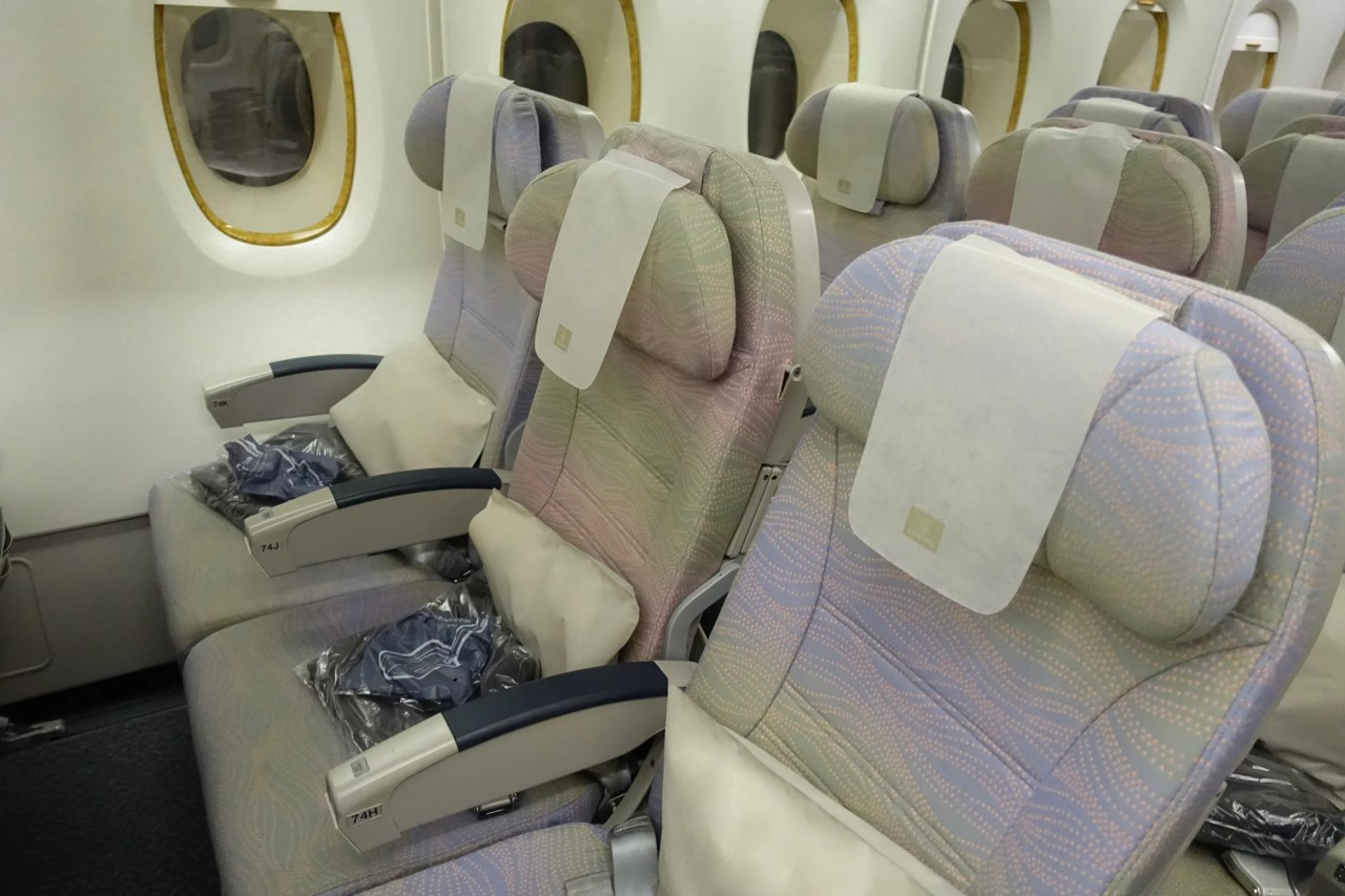 Flying to Europe With an Entire Economy Row to Yourself
