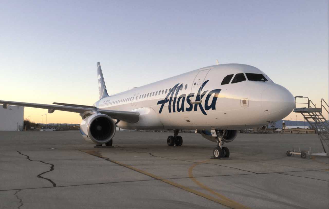 See the First Airbus in Alaska Airlines Colors