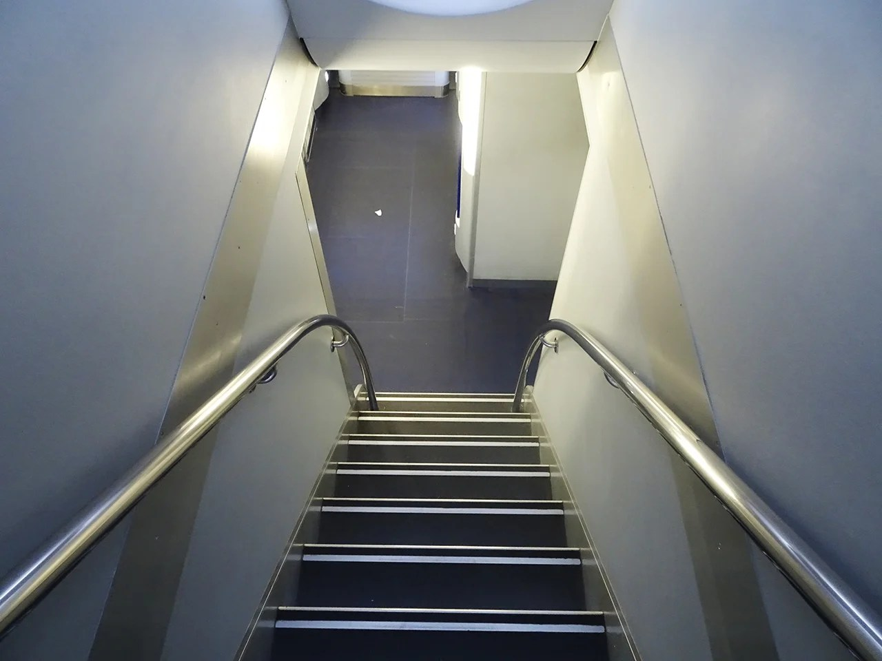 What is down these stairs?