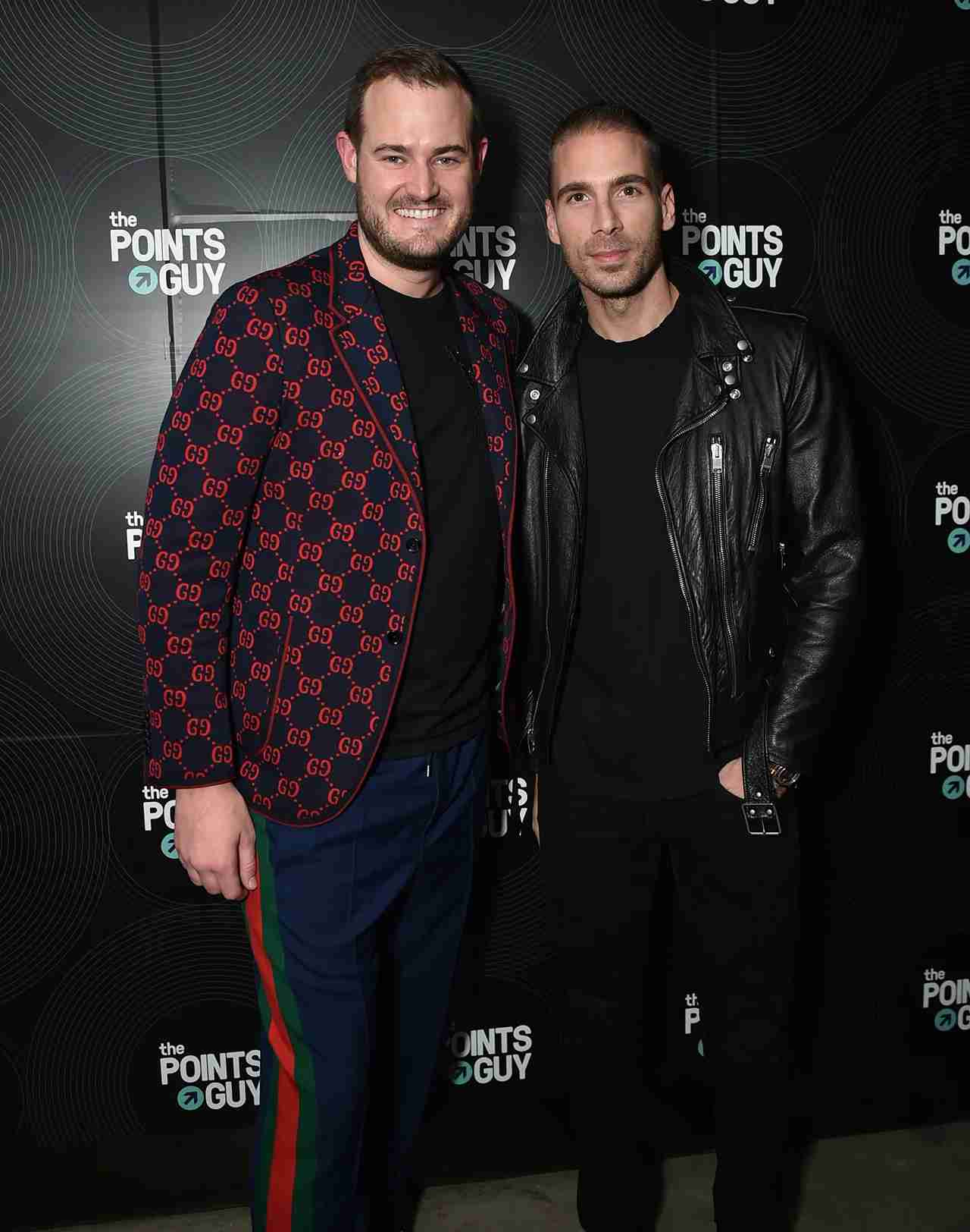 NEW YORK, NY - JANUARY 23: Founder and CEO of The Points Guy Brian Kelly (L) and Simon Huck attend The Points Guy 2018 Grammy Party with Lil Uzi Vert on January 23, 2018 in New York City. (Photo by Mike Coppola/Getty Images for The Points Guy)