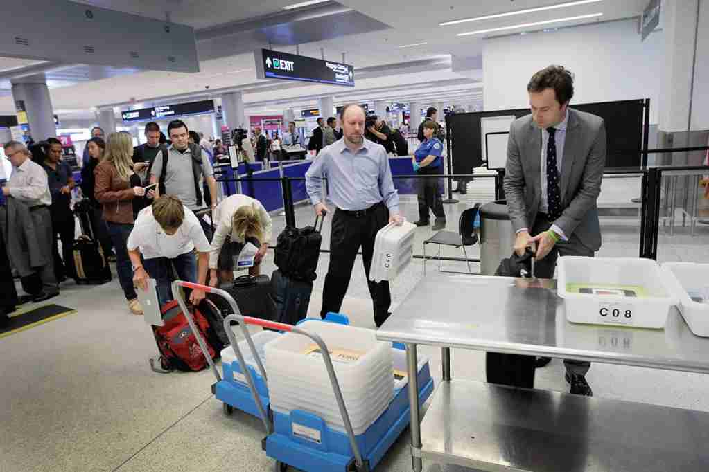 One of the perks of this card is a $100 credit toward the application fee for Global Entry or TSA PreCheck, which you can use once every five years. (Photo by Joe Raedle/Getty Images)