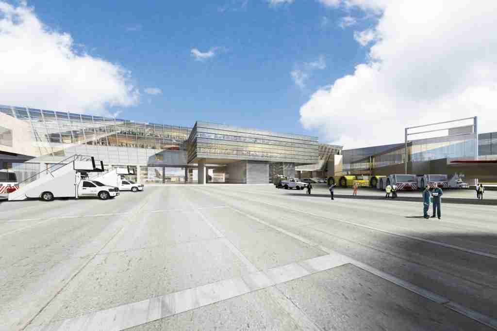 Exterior view of the planned JFK Centurion Lounge. Image courtesy of American Express.