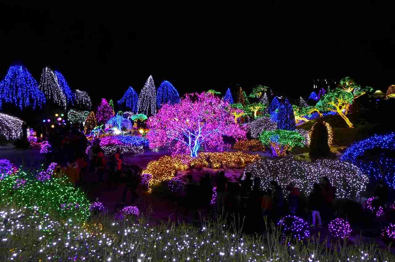 The Garden of Morning Calm (아침고요수목원) is a huge garden with a different themes every season. In winter, since there are no flowers, the garden holds the lighting festival where the whole garden is lit up in beautiful, colorful lights. (Photo by travel oriented/Flickr)
