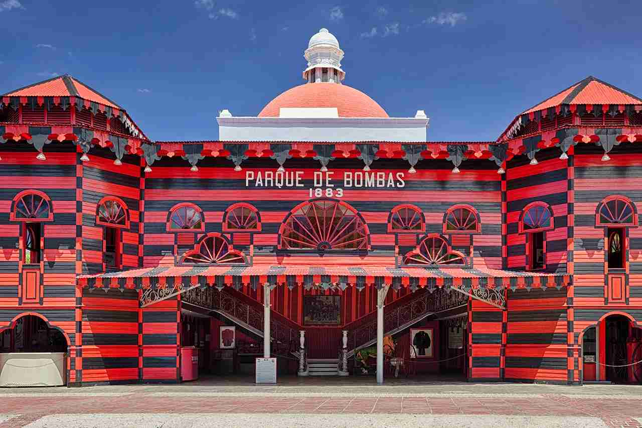 Historic fire station, Parque de Bombas, in Ponce, Puerto Rico. (Photo by Bryan Mullennix / Getty Images)