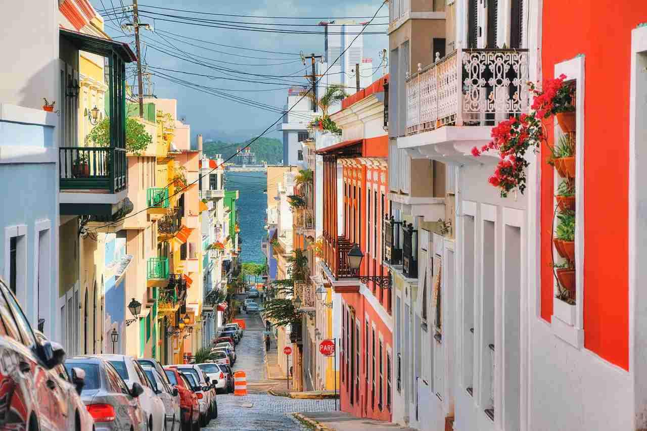 Beautiful typical traditional vibrant street in San Juan, Puerto Rico. (Photo by dennisvdw/Getty Images)