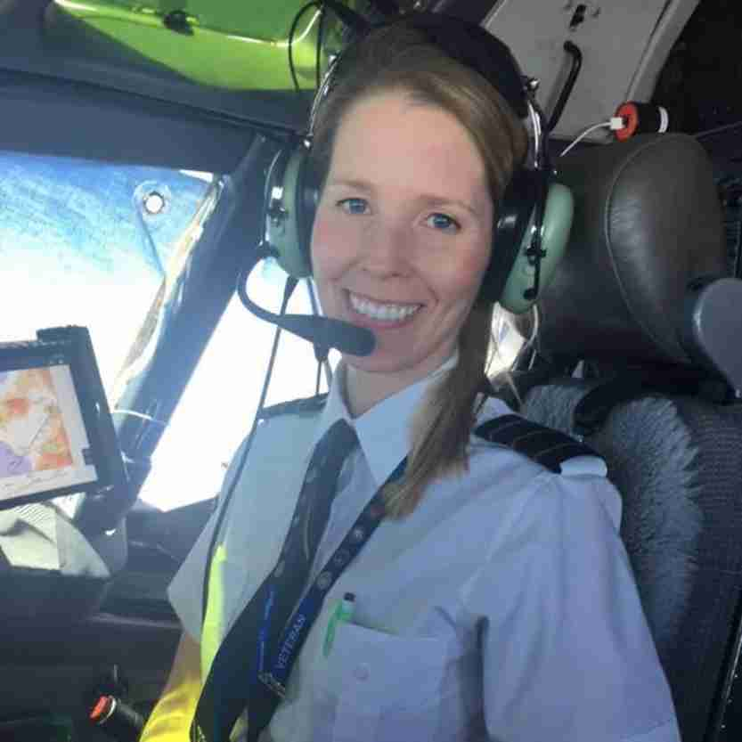 Betty Pina, Alaska Airlines pilot.
