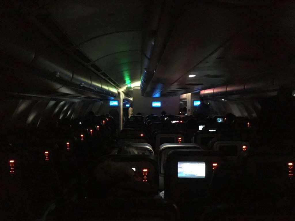 long-haul overnight flight