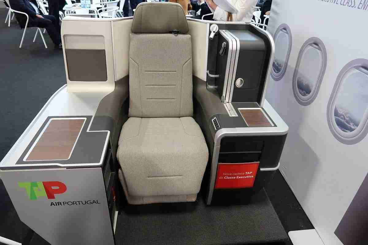 TAP Portugal's Latest A330 Business Class Seat (Photo by JT Genter / The Points Guy).