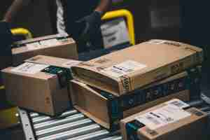 Parcels are processed and prepared for dispatch at the Amazon.com fulfillment centre in Amazon.com MPX5 fulfillment center on November 17, 2017 in Castel San Giovanni, Italy. Established in 2014, the 100.000 sq. metres warehouse employs a workforce of 1.600 people who processed 1.2 million items during the last Black Friday. (Photo by Emanuele Cremaschi/Getty Images)