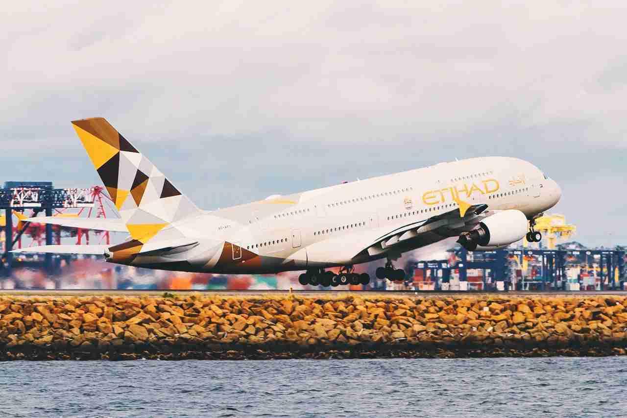 Etihad Airways A380 (Photo by G Tipene/Shutterstock.)