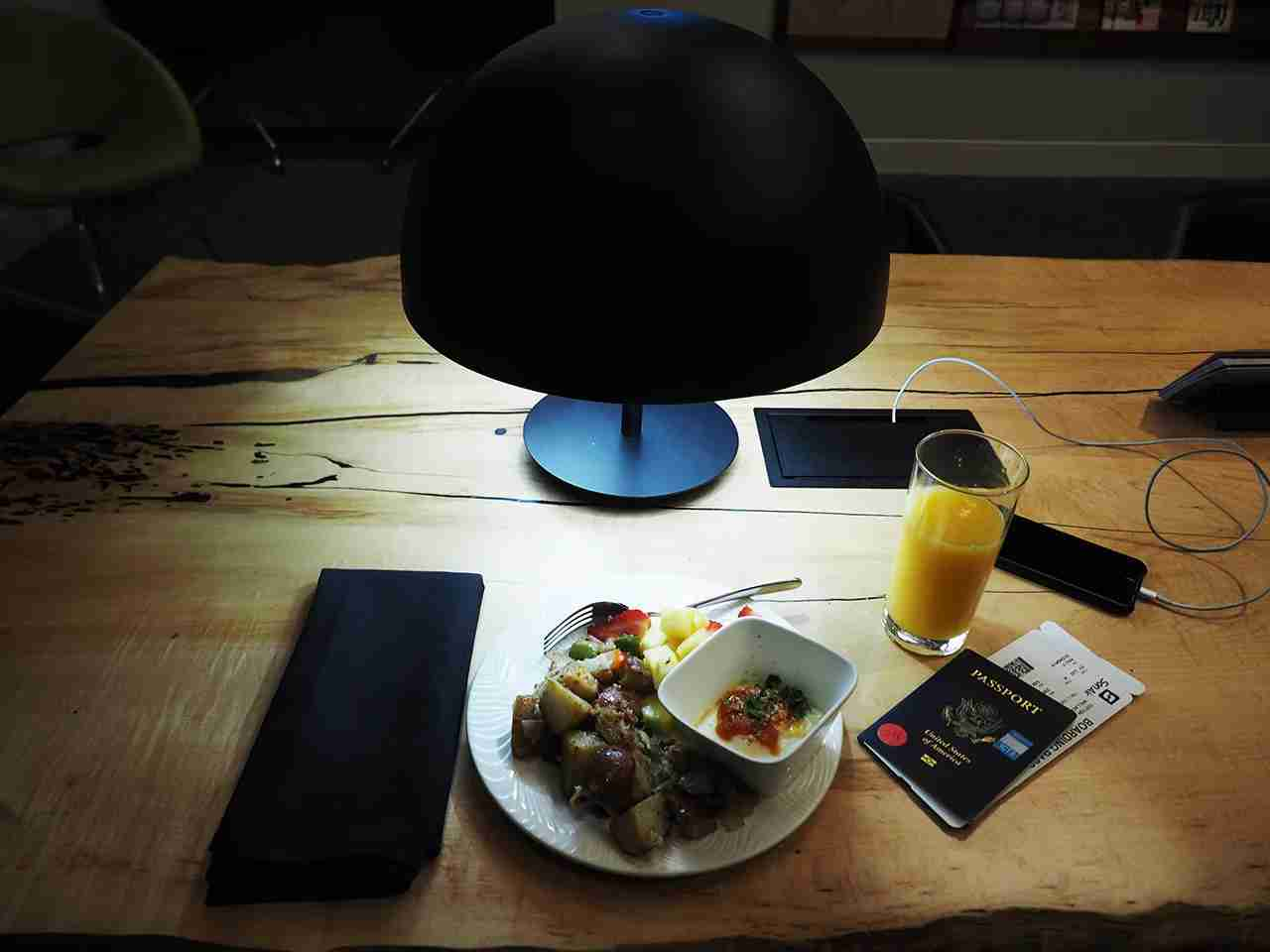 Breakfast was good. I made sure to grab a seat next to a charging port so I could charge my phone not knowing if they
