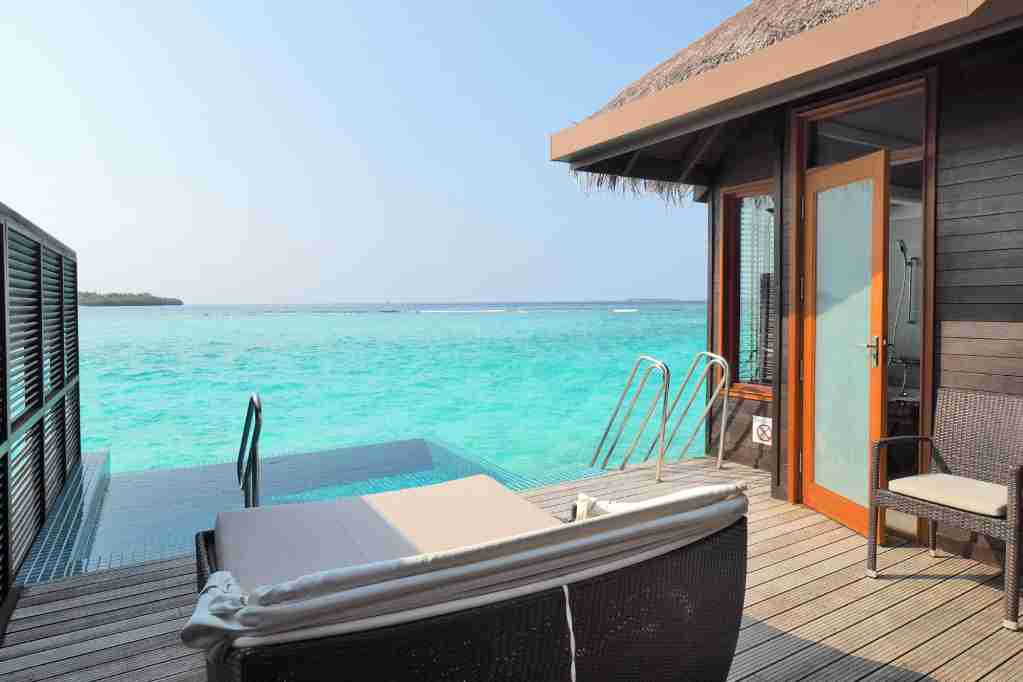Overwater Bungalow at the Sheraton Maldives. Photo by Zach Honig.