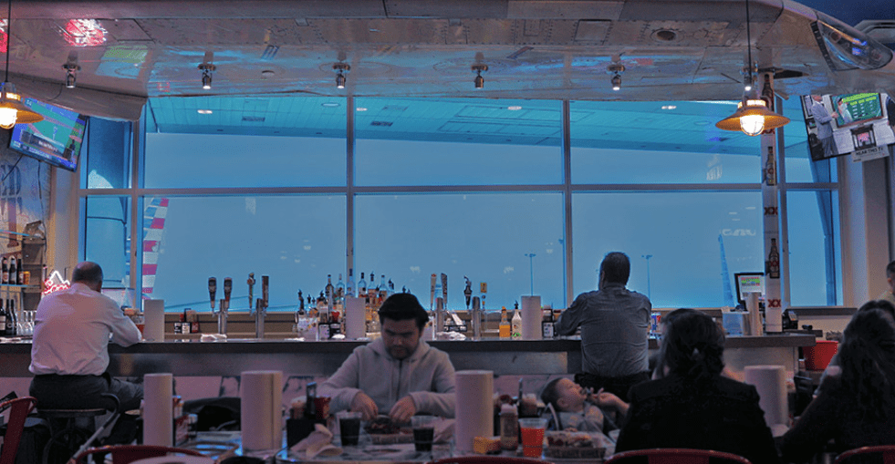 Bar at DFW with View