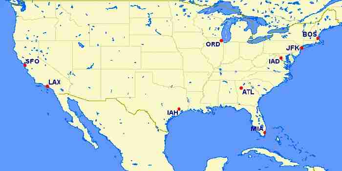 Turkish Airlines US destinations.