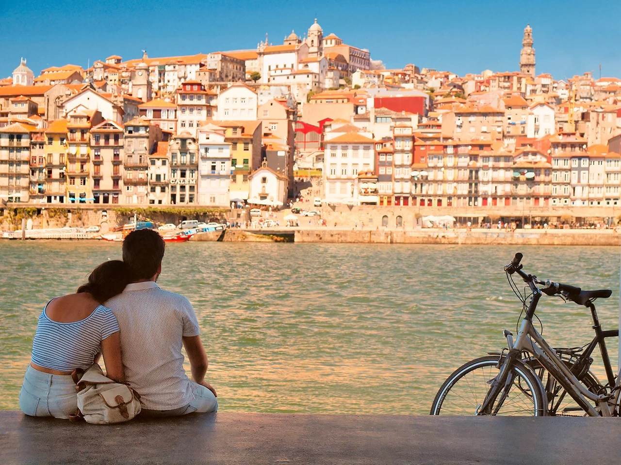 Portugal, Porto, Ribeira do Douro. (Photo by Alberto Manuel Urosa Toledano - Getty Images)Some houses in the area of the Ribeira do Douro or Riverside of Douro river from a pier. Located along the Douro river estuary in Northern Portugal, Porto is one of the oldest European centres, and its historical core was proclaimed a World Heritage Site by UNESCO in 1996.