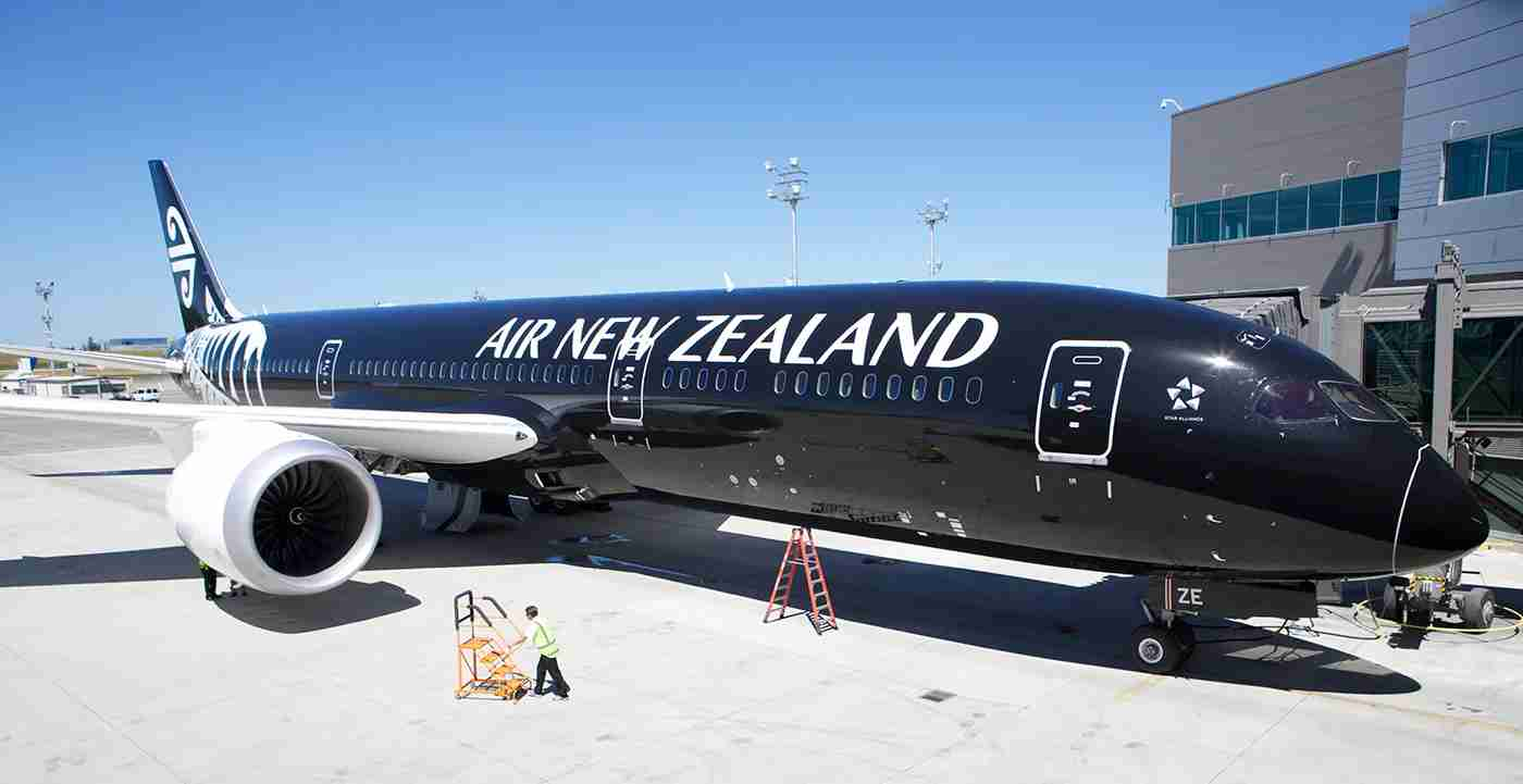 EVERETT, WA - JULY 9: An Air New Zealand 787-9 Dreamliner sits in its stall at the Boeing Delivery Center, July 9, 2014 in Everett, Washington. The 787-9 Dreamliner was the first delivery of the long-haul version of the 787 featuring a fuselage 20 feet longer than the 787-8. (Stephen Brashear/Getty Images)