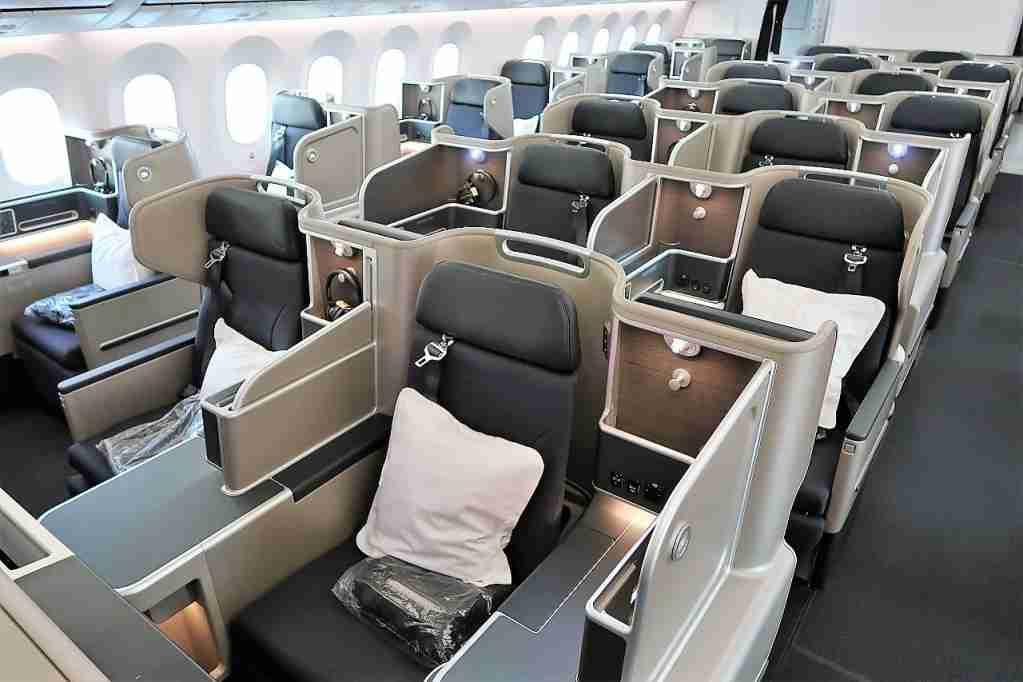 Business class board Qantas