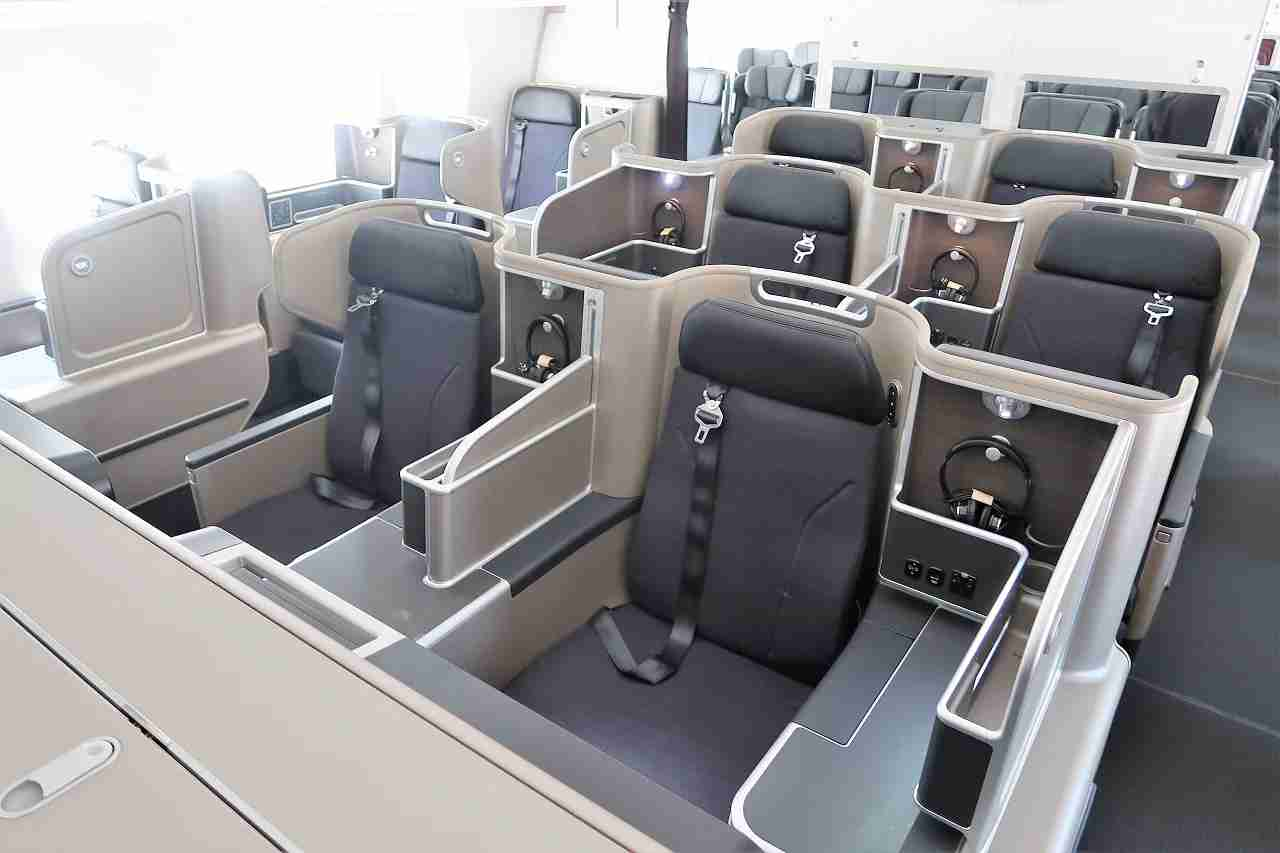 A peek at the Qantas 787-9 business-class cabin. (Photo by The Points Guy staff)
