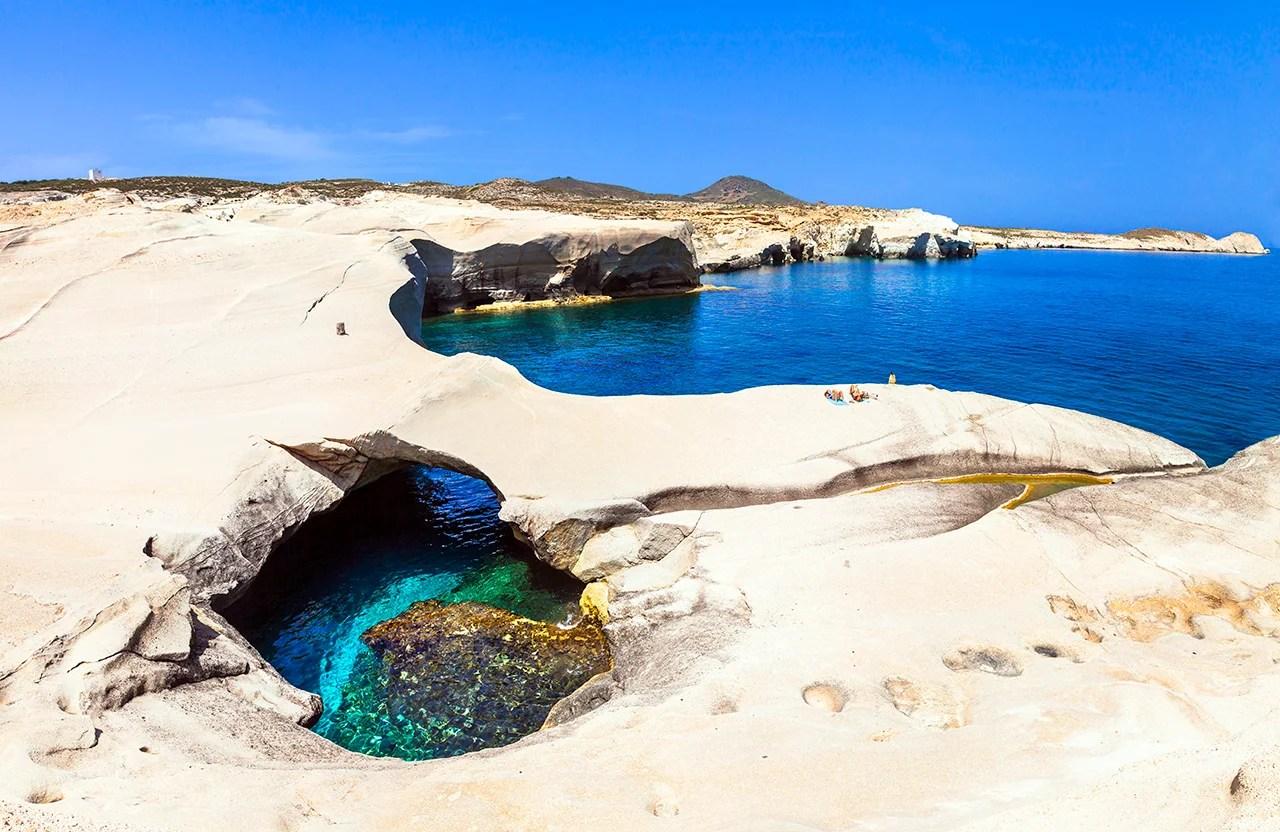 Sarakiniko Beach, Greece. (Photo by Freeartist / Getty Images)