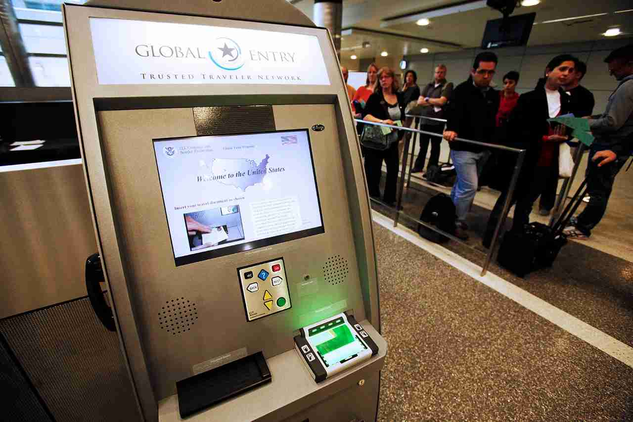 In this photo taken May 28, 2010, a Global Entry Trusted Traveler Network kiosk awaits arriving international passengers who are registered for the service, which will expedite their clearance of customs, at the newly-renovated customs clearance area at the Tom Bradley International Terminal at Los Angeles International Airport Friday, May 28, 2010. (AP Photo/Reed Saxon)