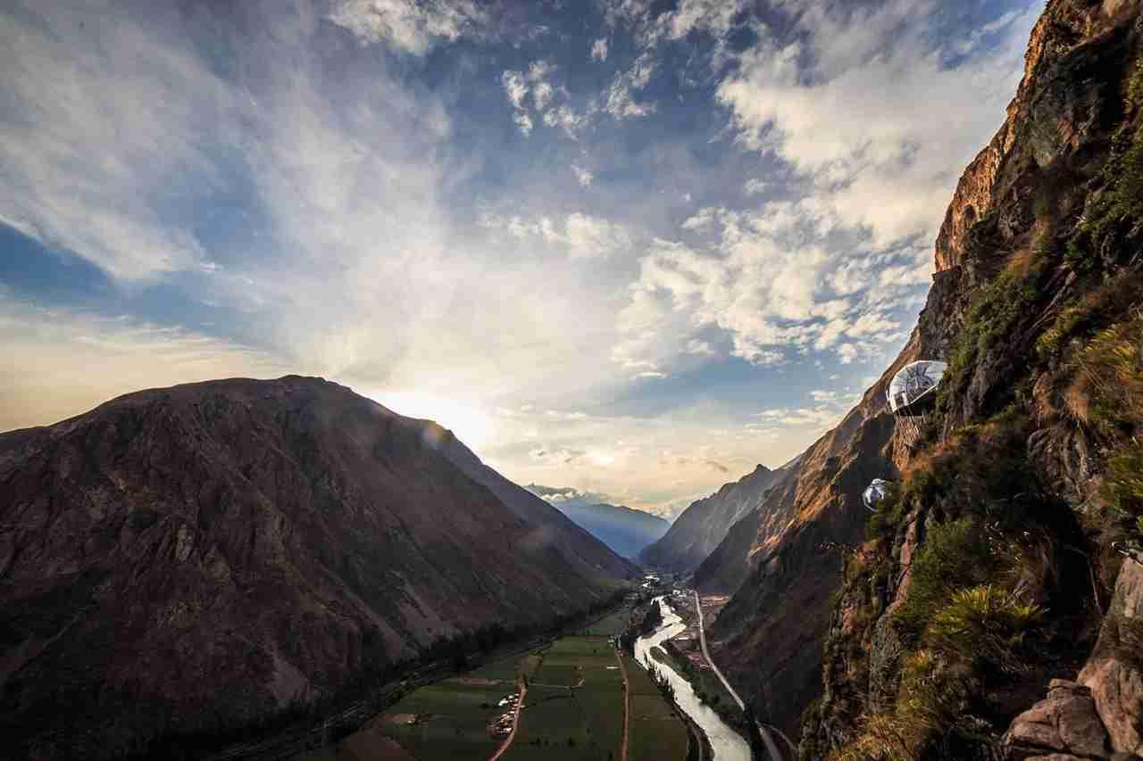 Cliffside sunrise. (Photo courtesy of Skylodge Adventure Suites)