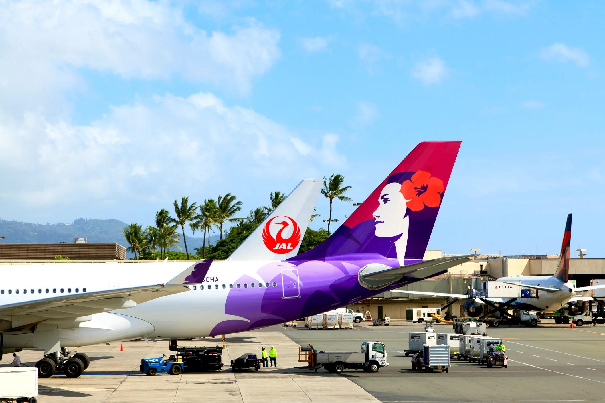 Resultado de imagen para hawaiian airlines japan airlines