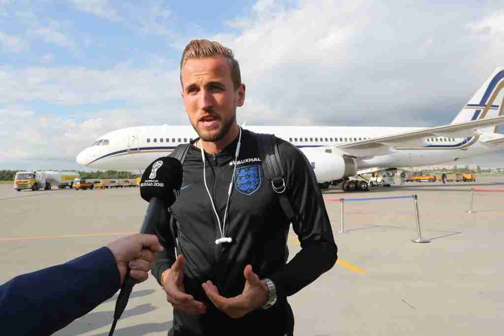 ST PETERSBURG, RUSSIA - JUNE 12, 2018: Harry Kane of the English national football team welcomed at St Petersburg