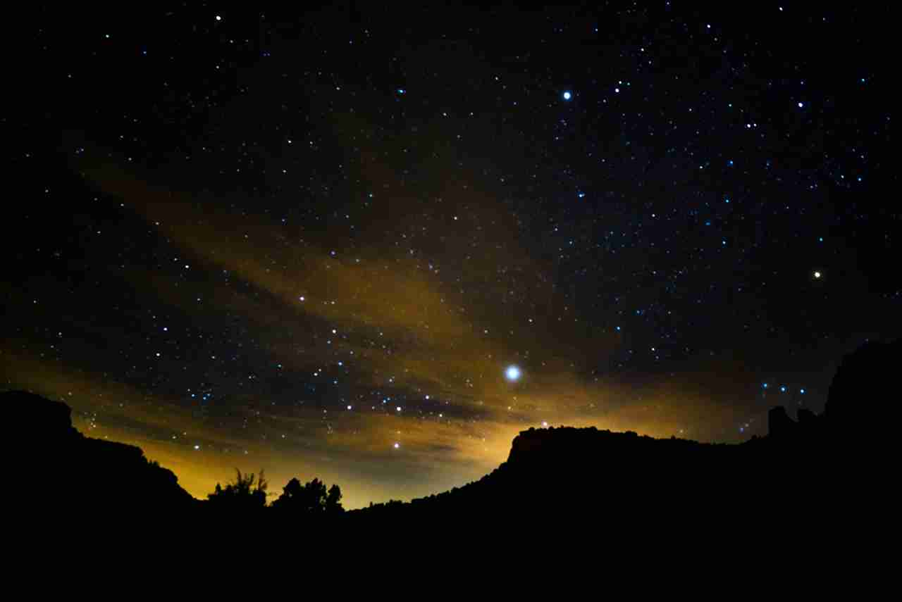 The night sky in Sedona. (Photo by Eliyahu Ungar-Sargon/Getty Images)