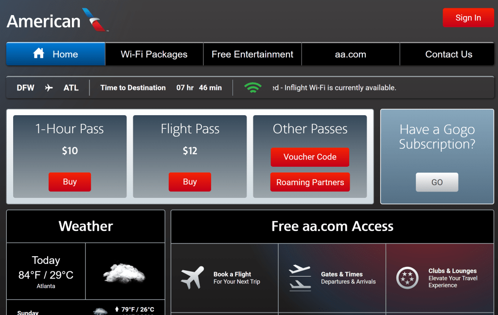 American Airlines Wi Fi Where When And How Much