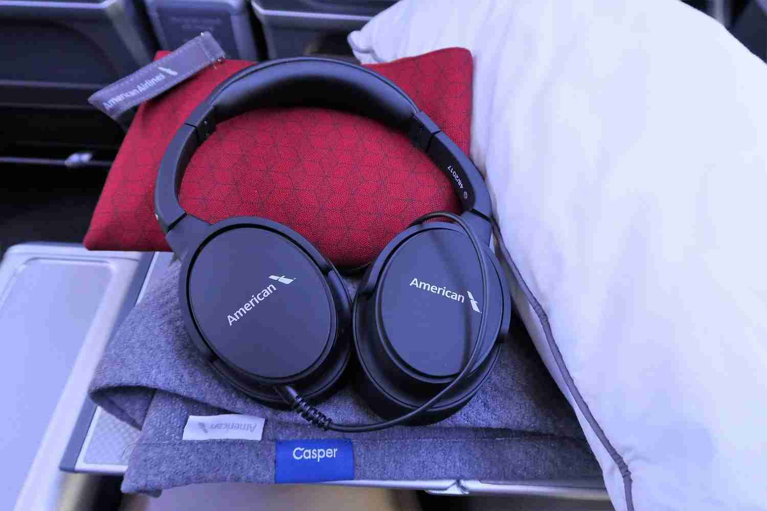 Headphones found in premium economy. (Photo by JT Genter / The Points Guy)
