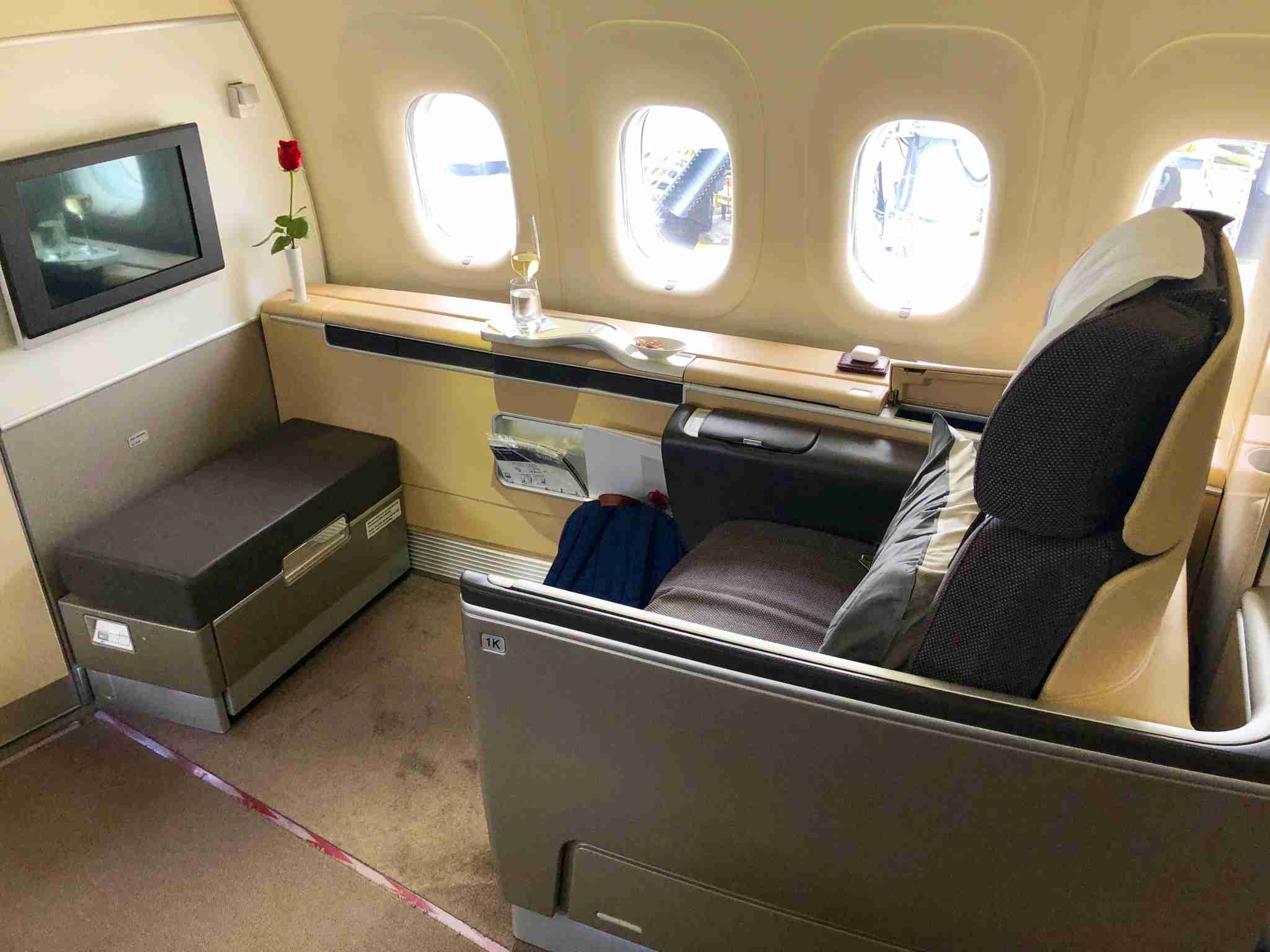 Have you flown in Lufthansa First Class before? (Photo by The Points Guy staff)