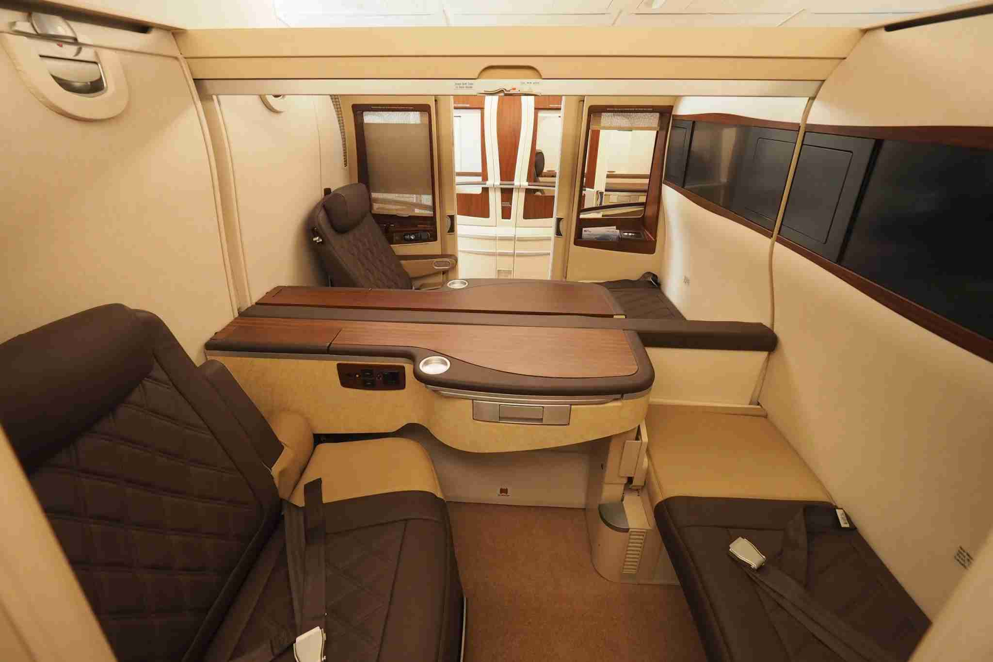 First class on the Hi Fly A380 (Photo by Zach Honig / The Points Guy)