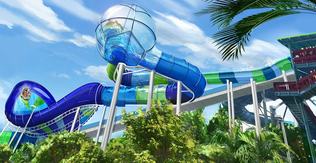 One of the key visuals for the new Ray Rush ride at Sea World Orlando