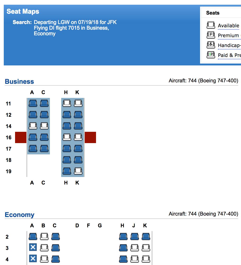 Review Wamos Air 747 Business Class Norwegian Premium