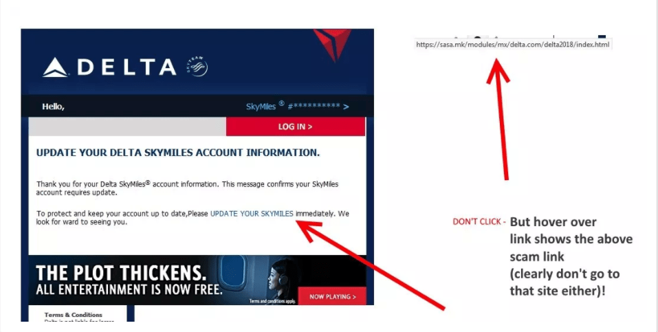 Beware: Phishing Scam Is Posing as Delta for Your Data