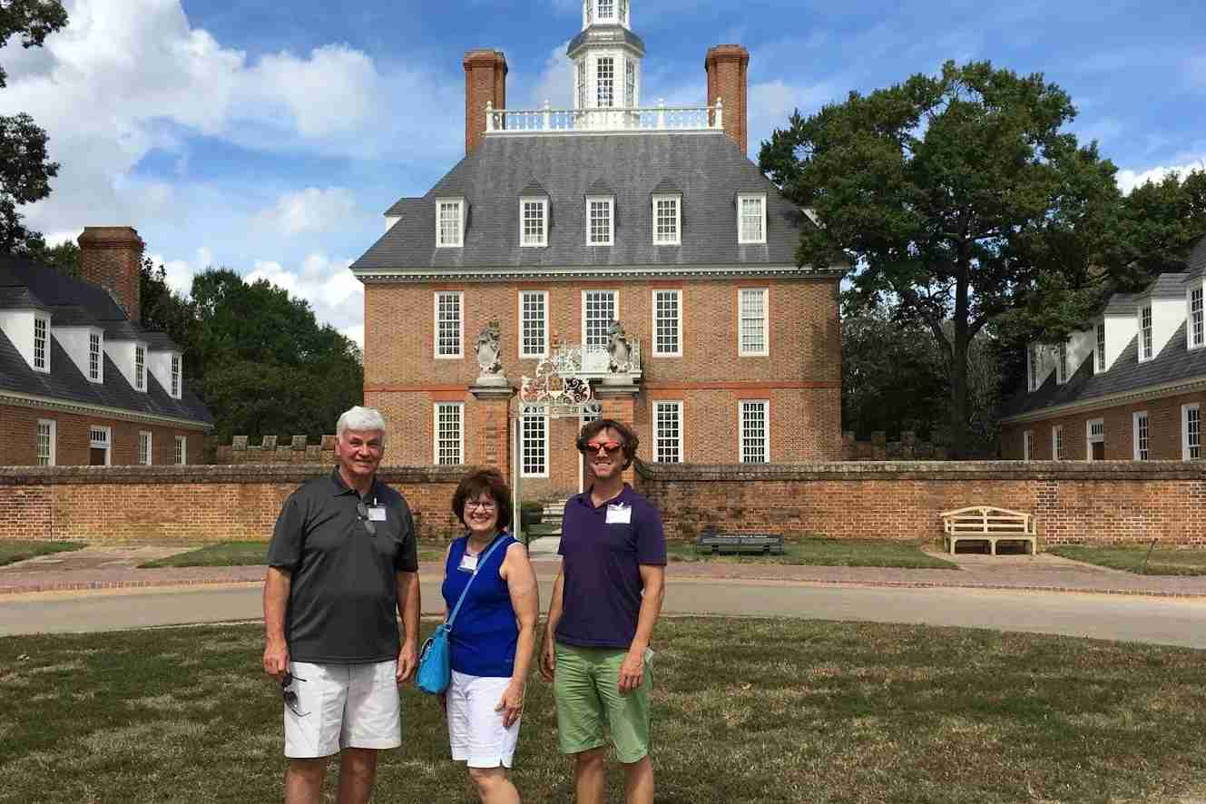 My parents flew for free on our trip to Williamsburg, VA - my dad on points and my mom as his companion.
