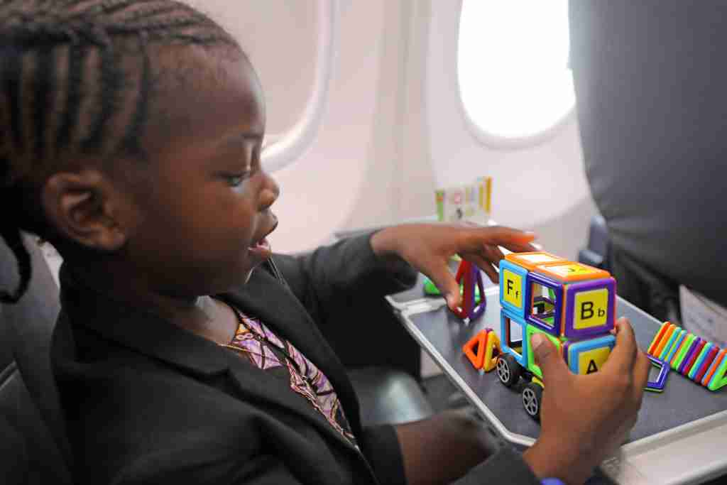 pack toys to keep the kids busy in-flight