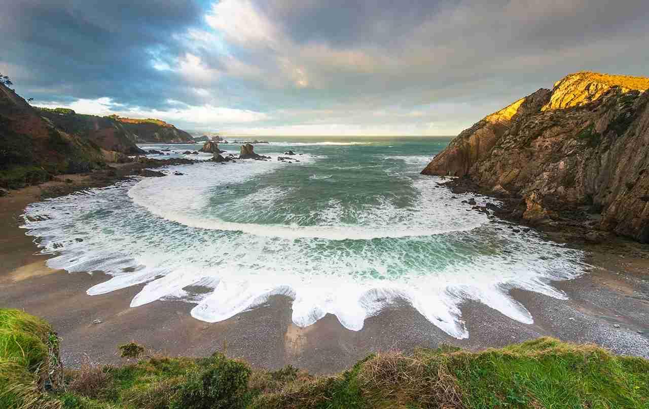 Playa del Silencio, Bay of Biscay, Asturias, Spain. (Photo by Sonja Jordan/Getty Images)