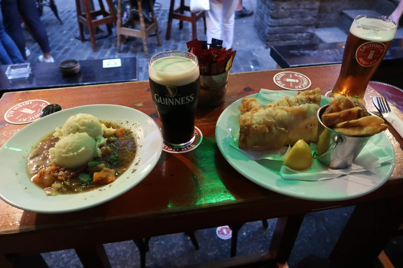 A stereotypical Irish meal at Brazen Head.