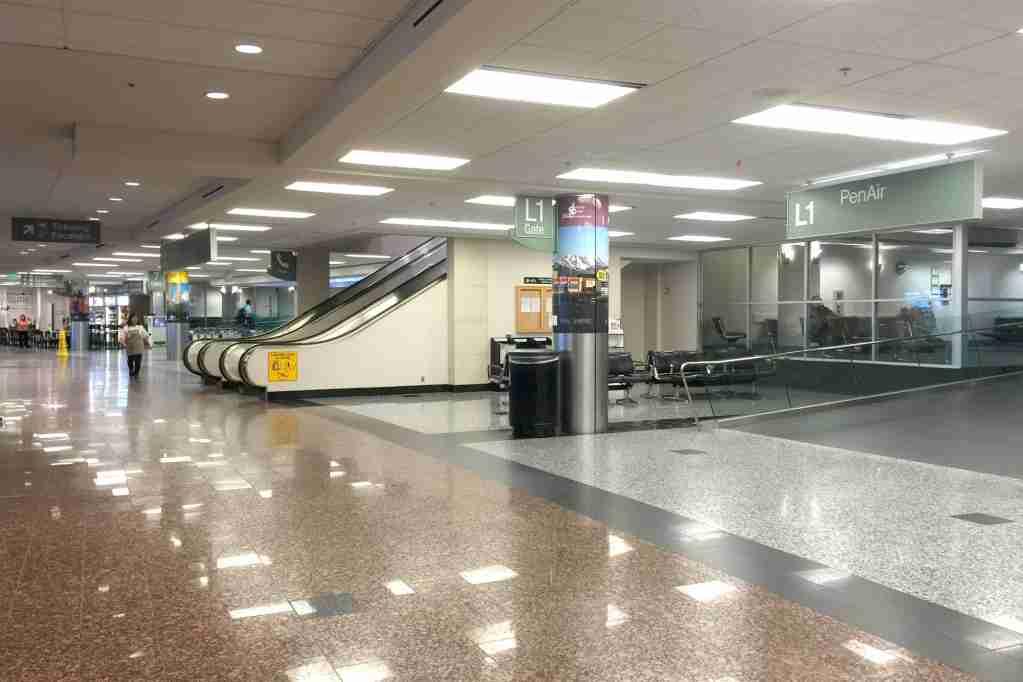 Located next to baggage claim, PenAir