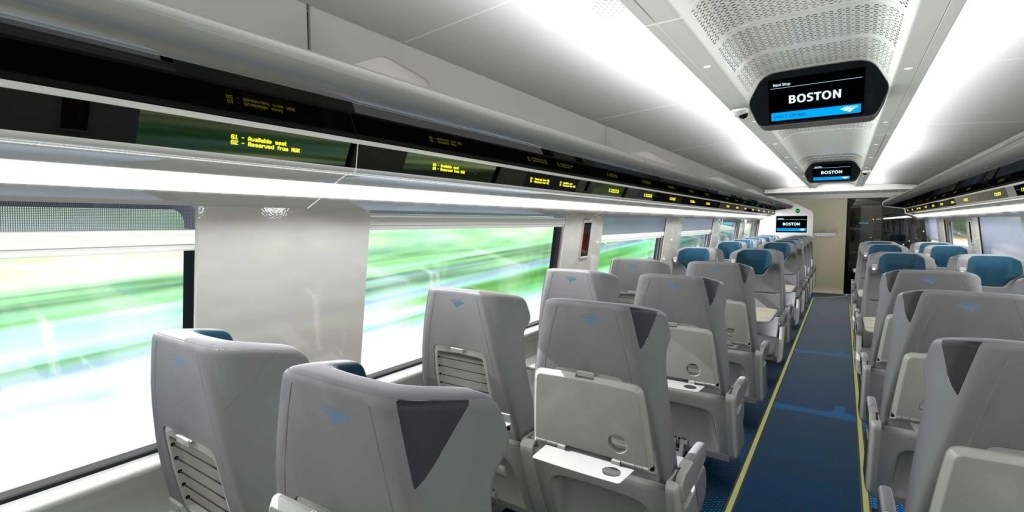 First Look At Amtrak S New Acela Business And First Class