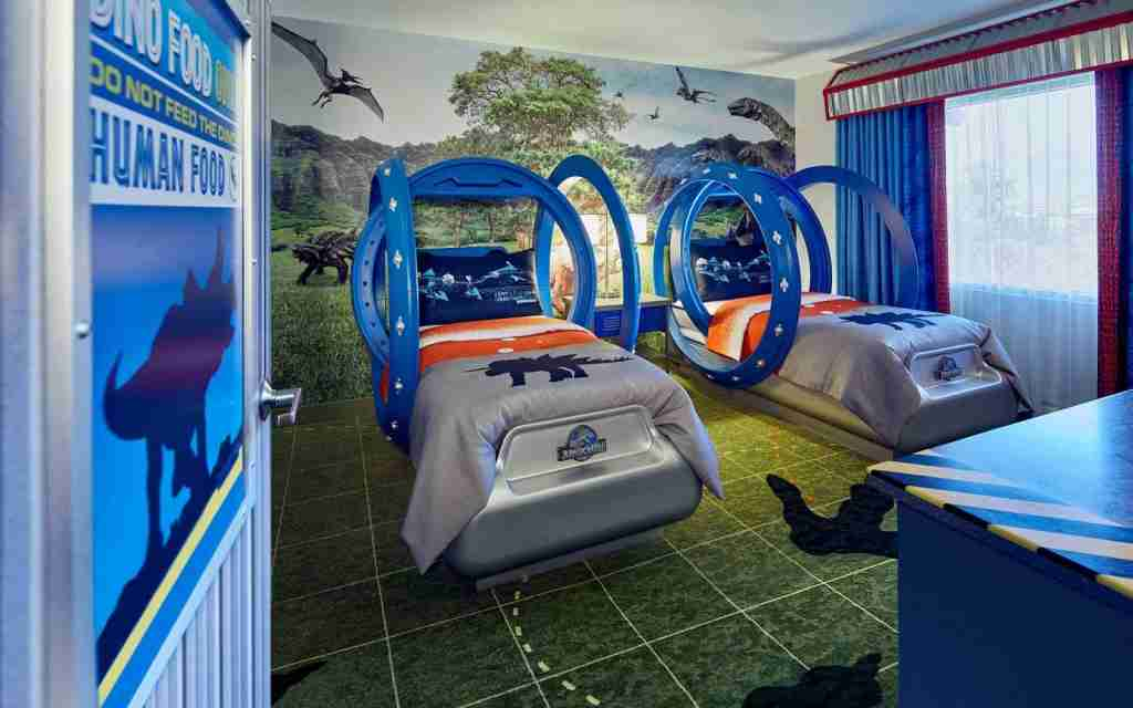 Universal Studios Loews Royal Pacific Jurassic Park Kid Suite (Photo courtesy of Loews Royal Pacific Resort)