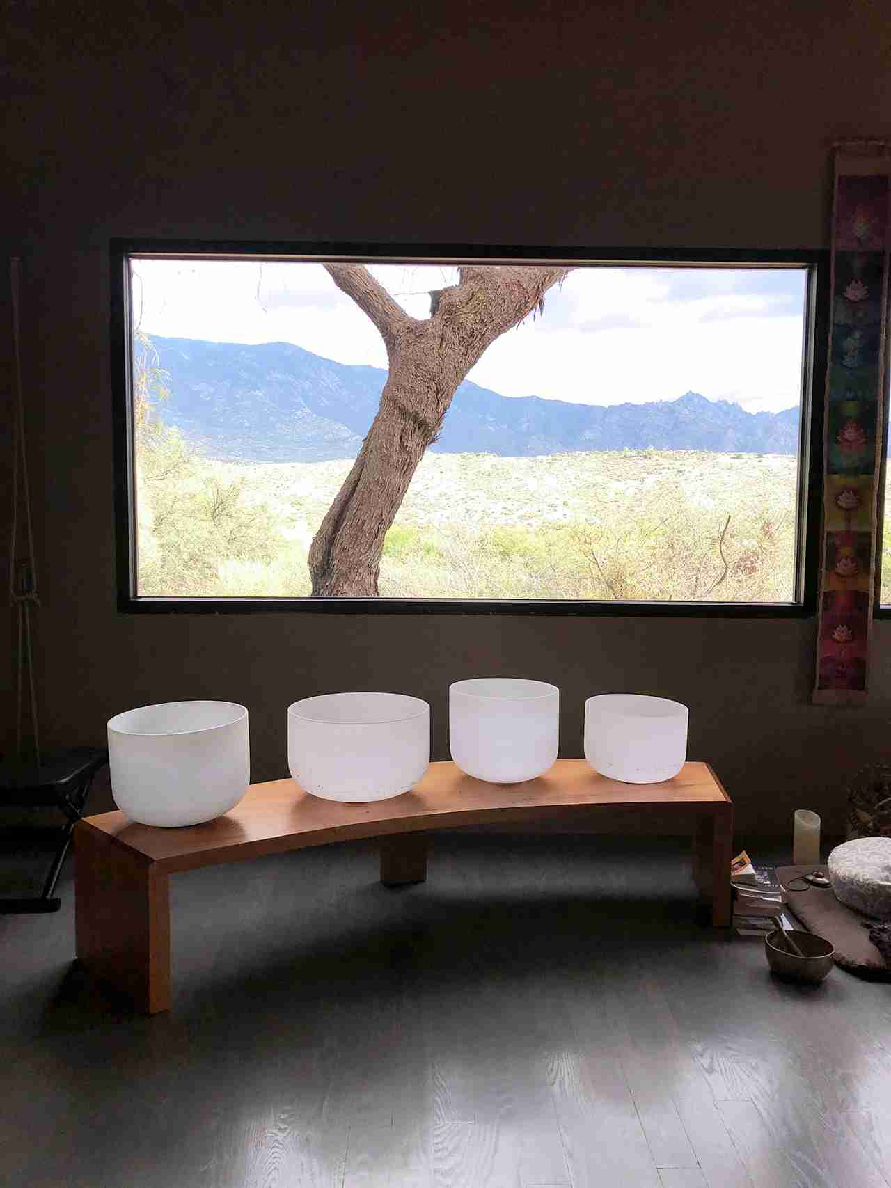Yoga and meditation studio at the Miraval Arizona