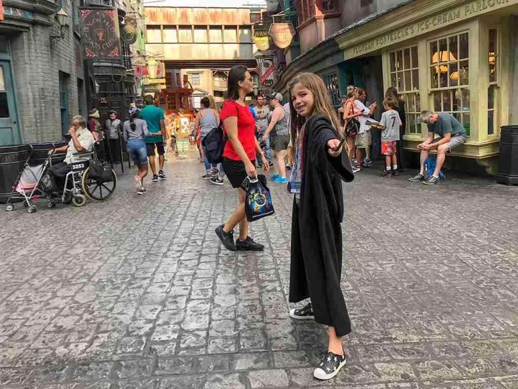 My oldest in full Harry Potter mode